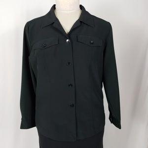 Dressbarn Stretch Button Blouse Plus Size 14/16W